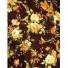 Afbeelding van Overhemd korte mouw met bruine rozen
