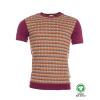 Afbeelding van ATO Berlin, T-shirt Birk, retro patroon, aubergine oranje