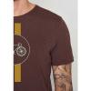 Afbeelding van Green Bomb | T-shirt Bike Highway, dark chocolate bio katoen