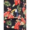 Afbeelding van Ato-Berlin, shirt Leo, zwart met tropische tukan print