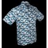 Afbeelding van Overhemd korte mouw Japanese Waves blauw