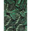 Afbeelding van Collectif | Pencil jurk Kiana Tropics met bladeren groen
