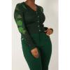 Afbeelding van Voodoo Vixen | Groene cardigan Ivy Green met bladeren print