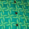 Afbeelding van Chenaski | Overhemd korte mouw, Leaves grid, turquoise yellow