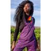 Afbeelding van Run & Fly   Tuinbroek met paarse luipaard, unisex
