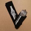 Afbeelding van Flirt | Zwarte overknee sokken met witte botten