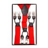 Afbeelding van Banned | Bretels Jefferson rood met clips