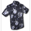 Afbeelding van Overhemd korte mouw Japanese Leaves blauw