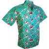 Afbeelding van Chenaski | Overhemd korte mouw, Koi, turquoise