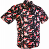 Afbeelding van Overhemd korte mouw, Koi zwart