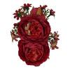Afbeelding van Collectif - Haarbloem en broche Lorna, rode bloemen