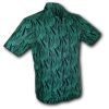 Afbeelding van Overhemd korte mouw, leaves navy turquoise