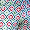 Afbeelding van Broek, diagonal squares mint petrol