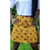 Afbeelding van Run & Fly   Gele ribcord rok met bijen print