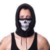 Afbeelding van Poizen Industries | Capuchon sjaal zwart met skull print