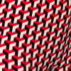 Afbeelding van Chenaski   Legging 3d patroon Stairs zwart creme rood