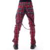 Afbeelding van Vixxsin | Broek Vincent rode tartan met ritsen en afneembare straps