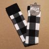 Afbeelding van Flirt | Overknee sokken zwart wit geblokt