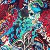 Afbeelding van Overhemd retro, Paisley Colourful, satijn