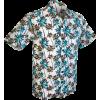 Afbeelding van Overhemd korte mouw, Palmen creme