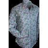 Afbeelding van Overhemd retro, paisley blue lilac