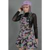 Afbeelding van Jawbreaker | Pinafore jurk Poison Ivy met felgekleurde bloemen