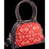 Afbeelding van Handtas bowlingbag model, Rhombus rust