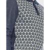 Afbeelding van ATO Berlin | Polo Enne met lange mouw, donkerblauw lelie-jacquard patroon