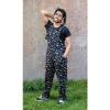 Afbeelding van Run & Fly | Zwarte tuinbroek met regenboog dino print, unisex