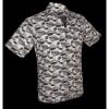 Afbeelding van Overhemd korte mouw Japanese Waves grijs