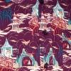 Afbeelding van Overhemd seventies, Cave Temple aubergine