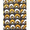 Afbeelding van Overhemd seventies Retro Eyeball Creme Zwart Geel