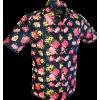 Afbeelding van Overhemd korte mouw, Rozen navy blauw