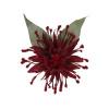 Afbeelding van Collectif - Haarbloem en broche Elma, rode bloem