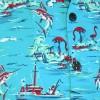 Afbeelding van Chenaski | Overhemd korte mouw, Ocean view, turquoise
