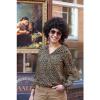 Afbeelding van ATO Berlin | Blouse Liana, leopard print bruin blauw