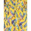 Afbeelding van Ato Berlin, lange jurk Gwen geel met veren print