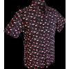 Afbeelding van Overhemd korte mouw, Flamingo zwart