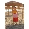 Afbeelding van Jurk Lorena mouwloos swingmodel in geel, zachtroze en oranje