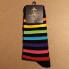 Afbeelding van Love Sox | Zwart regenboog gestreepte sokken