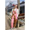 Afbeelding van Run & Fly   Two tone tuinbroek pastelroze en bruin, unisex