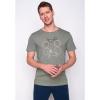 Afbeelding van Green Bomb | T-shirt bike shape, bio katoen olijf groen