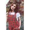 Afbeelding van Run & Fly | Rode tartan tuinbroek, unisex