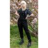 Afbeelding van Run & Fly   Zwarte stretch tuinbroek, strakke pijpen, unisex