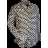 Afbeelding van Overhemd retro, mao seed green gold
