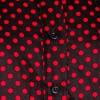 Afbeelding van Chenaski   dames blouse Polka Dots, zwart rood