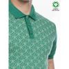 Afbeelding van ATO Berlin | Polo Enzio bio katoen met jacquard patroon groen