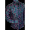 Afbeelding van Overhemd retro, paisley pink blue