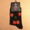 Afbeelding van Love Sox | Zwarte sokken met rode kersen