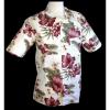 Afbeelding van Overhemd korte mouw jungle flowers creme